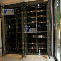 供应广州西餐厅不锈钢酒柜钛金不锈钢常温酒柜