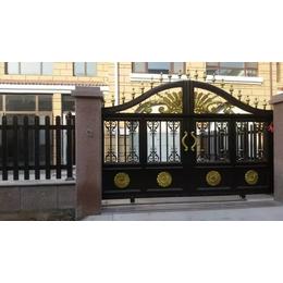 欧式别墅大门 豪华铝艺庭院大门 铸铝推拉门