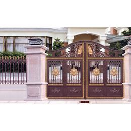 铝艺遥控庭院大门 花园别墅大门 铝艺平移大门