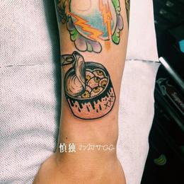 纹身风格-创意水彩图案