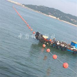 水库红白搭配拦船浮标 弧形界标