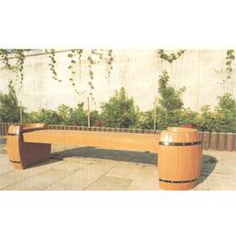鼎晟园林  圆桶造型长椅