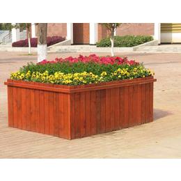 室外防腐木花箱道路景观花盆