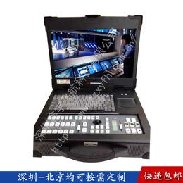 15寸导播机录播切换台一体机机箱定制工控机视频采集工业便携机