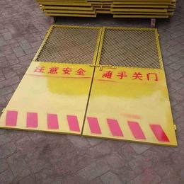 镀锌铁丝网安全门施工电梯防护门栅栏门隔离门工地护栏围栏门缩略图