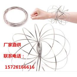 爆款健身减压玩具RingsFlow不锈钢环缠绕魔术手环