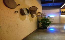 陕西省原始复古稻草漆自然的乡土气息装修饭店酒吧墙面材料批发