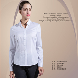 长袖v领 衬衫 女 白色缩略图