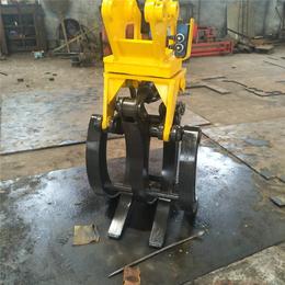 济宁晟旭专业制造配液压式抓木器 挖掘机液压旋转式抓木器