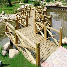 碳化防腐木古木桥 古典桥实木花园桥 凉亭配桥 仿古木桥定制
