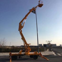 14米曲臂升降机 室外安装高空作业平台制造 液压升降平台供应