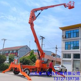 14米曲臂升降机 柴油机行走升降平台 星汉新款高空作业升降车