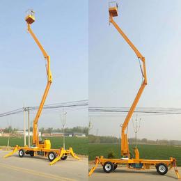 曲臂升降机 14米高空作业平台报价 柴油机驱动升降平台价格