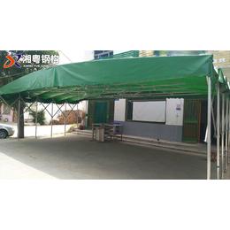 廠家直供爆款PVC帆布伸縮式雨棚推拉活動雨棚定做