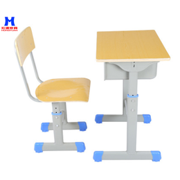 厂家直大中小学生培训课桌凳可定制学生课桌凳儿童课桌凳