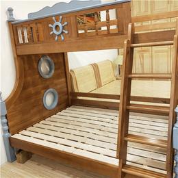 南昌儿童家具全屋定制 松木上下铺床销售 子母床直销
