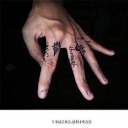 手指字母纹身缩略图