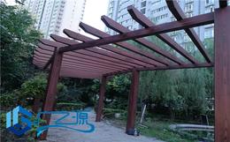 公园凉亭做仿木纹云南昆明木纹漆施工队