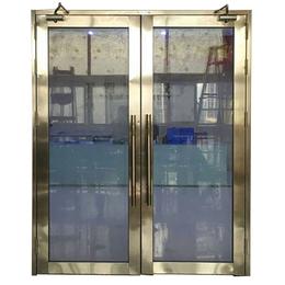云浮乙级双开玫瑰金不锈钢玻璃防火门销售公司