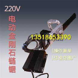 厂家直销220V电动金刚石链锯 切楼板切墙大理石花岗岩切割