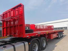 13米2.55米宽高低板半挂车3轴拖板