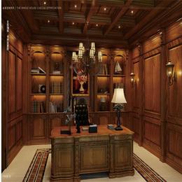 欧式书柜厂家定做 实木书柜