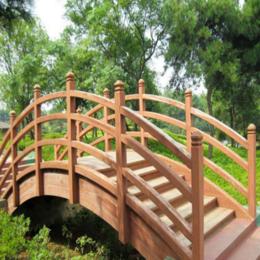 防腐木桥户外庭院花园碳化木桥拱桥小木桥实木景观工程桥缩略图