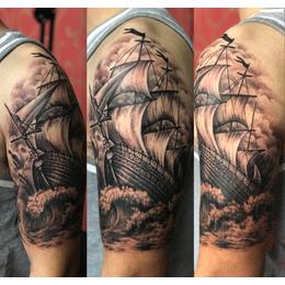 满背菩萨纹身-东龙纹身(在线咨询)-纹身