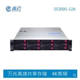 鑫云12盘位万兆光纤影视4K编辑共享磁盘阵列