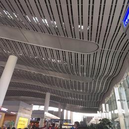 高铁站吊顶铝天花  弧形铝单板 波浪造型铝单板