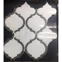 云浮马赛克厂家生产 天然大理石水刀马赛克规格板
