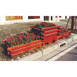 南昌室外防腐木组合花盆生产厂家