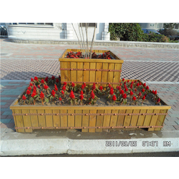 厂家销售南昌室外防腐木组合花盆