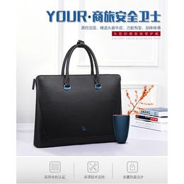 申派法国牛标新款男士商务手提包 休闲时尚多功能电脑包批发