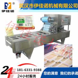 供应盒装内脂豆腐灌装封口机塑料盒装血豆腐全自动灌装封口机设备