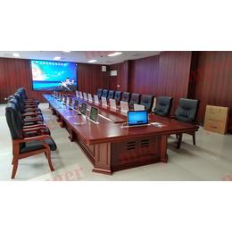哈尔滨超薄液晶屏升降器厂家   会议桌升降一体机