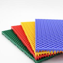 天津幼儿园室外悬浮地板 防滑悬浮式拼装地板 户外塑料运动地板
