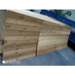 台北定制仿古做旧 碳化拉丝松木饰面板
