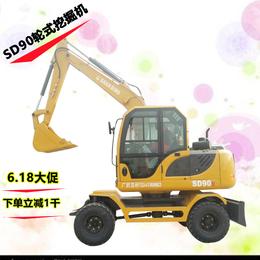 现代90轮胎式挖掘机 二手轮式挖掘机多少钱