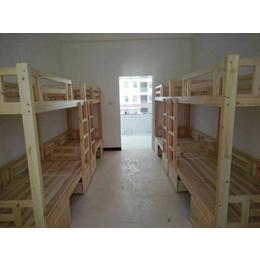 实木双层床厂家生产
