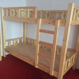 实木双层幼儿床