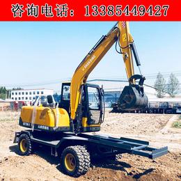 工程小型轮式挖掘机 厂家直销轮式挖机