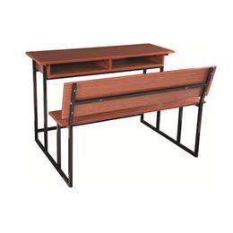 HL-A1966外贸版双人连体课桌椅