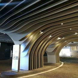 定制铝格栅吊顶 弧形铝方通 弧形铝格栅 造型铝方通