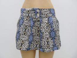 女士超薄印花裙裤双纽扣清爽热裤