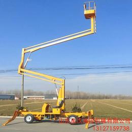 寶雞市電動液壓升降臺 18米曲臂升降機 全自動液壓升降車供應