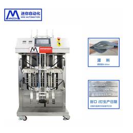 全自动灌装机生产线给袋式面膜灌装机双头灌装封口打码一体机