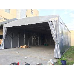 苏州市苏州园林结构推拉帐篷仓库伸缩雨棚 户外烧烤移动推拉篷 缩略图