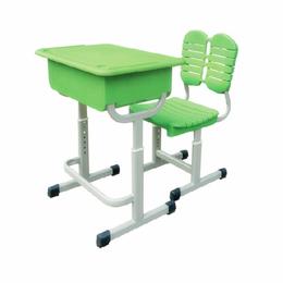 厂家批发塑料学生桌椅 环保单人课桌椅销售缩略图