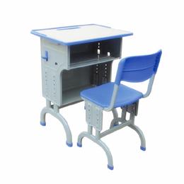 学生双层弯脚课桌椅 单人课桌批发 ABS课桌厂家直销缩略图